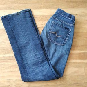 7 For All Mankind Dark Wash Mid Rise Bootcut Jeans